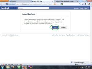 cara tutup akun facebook