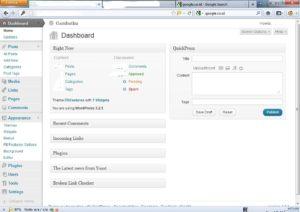 tampilan wordpress 3.2.1 lama