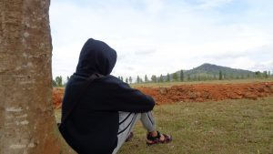 Pemandangan Taman Labirin Tambang Ulang Pelaihari